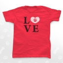 RED-LOVE-Paw-Unisex